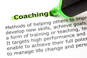 46608323 - definition of the word coaching, highlighted with green text marker.