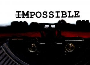 48324488 - impossible but possible written with black ink with the typewriter